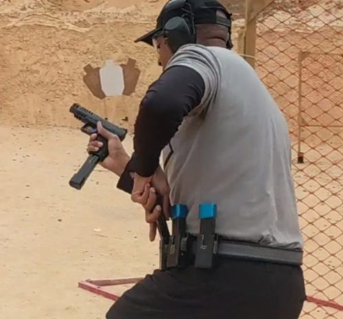 Reload during a tactical training